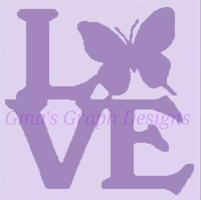 Butterfly Love throw 200 x 200 sc