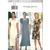 Butterick 4491 Misses Dress 90s Vintage Sewing Pattern UNCUT Size 6, 8, 10 Donna