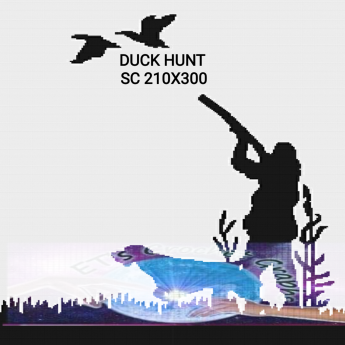 Duck Hunt SC Full Size 210x300 includes graph with color chart instructions