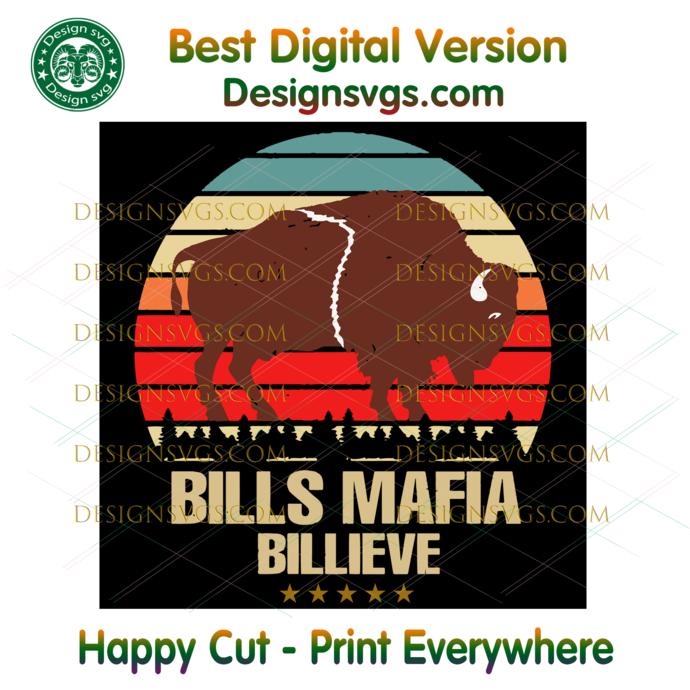 Bills Mafia Billieve Svg, Sport Svg, Football Svg, NFL Svg, Buffalo Bills Svg,