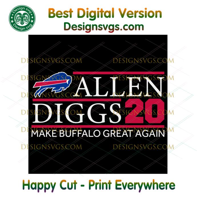 Allen Giggs 20 Svg, Sport Svg, Football Svg, NFL Svg, Buffalo Bills Svg, Buffalo