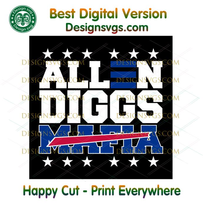 Allen Diggs Bills Mafia Svg, Sport Svg, Football Svg, NFL Svg, Buffalo Bills