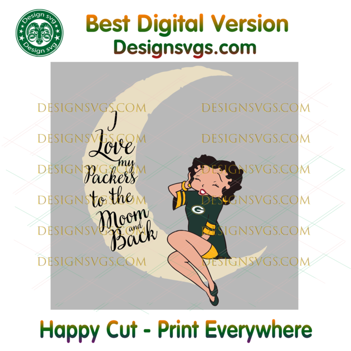 I Love My Packers To The Moon And Back Svg, Sport Svg, Football Teams Svg, Sport
