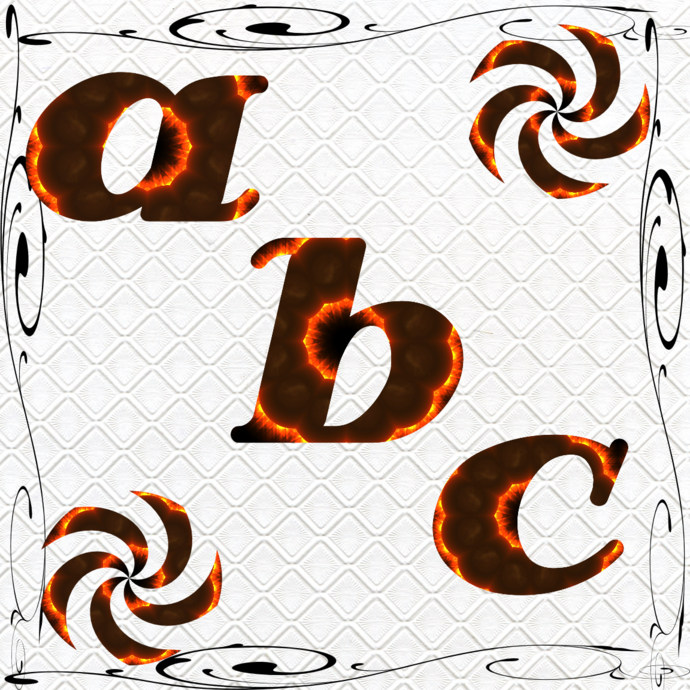 ABC and Numbers 54a-Digital ClipArt-Fonts-Art Clip-Fire-Gift
