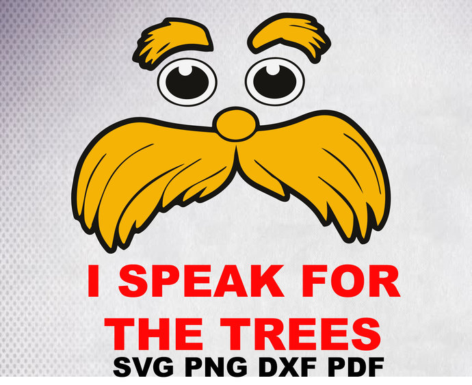 I speak for the trees svg, Lorax Dr seuss svg, Lorax , Cat In The Hat png, svg,