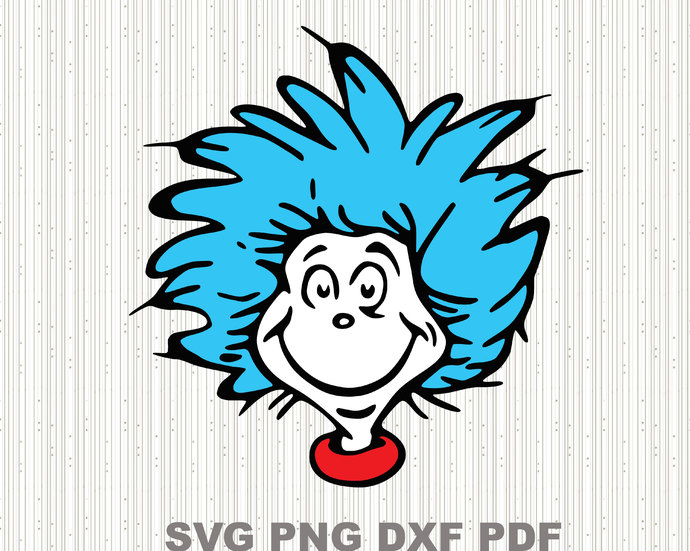 Thing 1 svg,Dr seuss svg,Cat in the hat svg ,Svg for Kids, File For Cricut, For