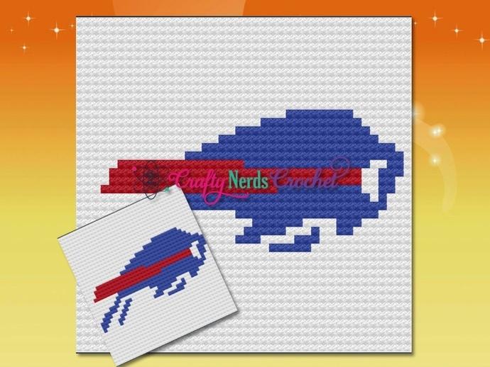 Buffalo Bills Pillow Pattern Graph With Mini C2C Written