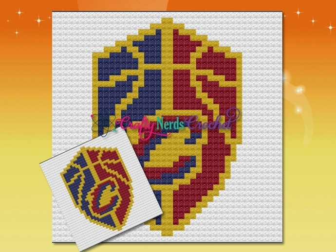 Cavaliers Pillow Pattern Graph With Mini C2C Written