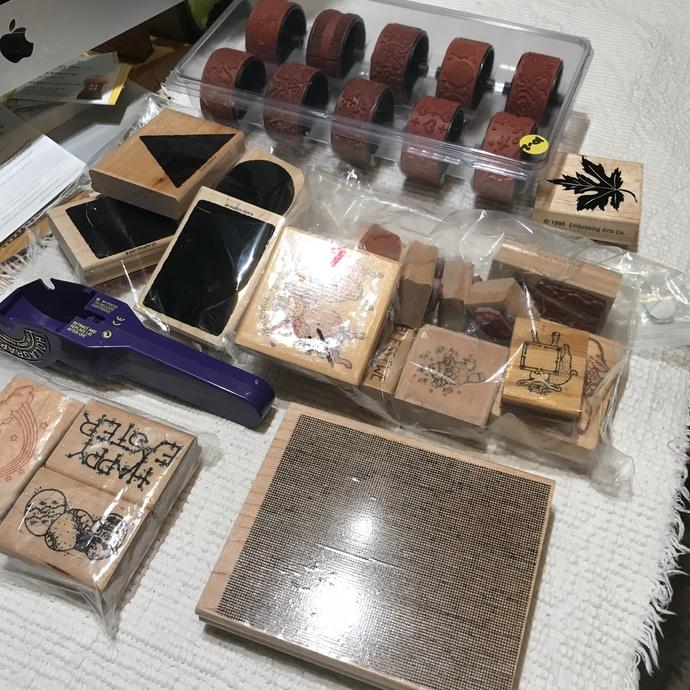 Destash STAMPS Sets Roller stamps, Wooden Stamps, roller