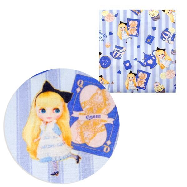 blythe  poliester and cotton fabric  (a half of a yard)