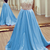 chiffon lace top backless A-line long dresses,prom dresses cap sleeves