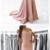 Simple Blush Off Shoulder Short Sleeve Mermaid Long Custom Evening Prom Dresses