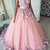 tulle lace applique long prom dress,  evening dress