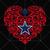 Dallas Cowboys Logo, Heart Cowboys, Dallas Cowboys SVG, Heart, Cowboys Logo, NFL