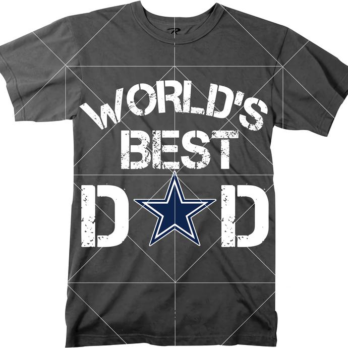 World's Best Dad Svg, Dad, Dallas Cowboys PNG, Dallas Cowboys SVG, Cowboys Logo,