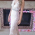 Sheath Floor Length V Neck Sleeveless Appliques Prom Dress