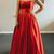 Elegant Strapless  Satin Prom Dress