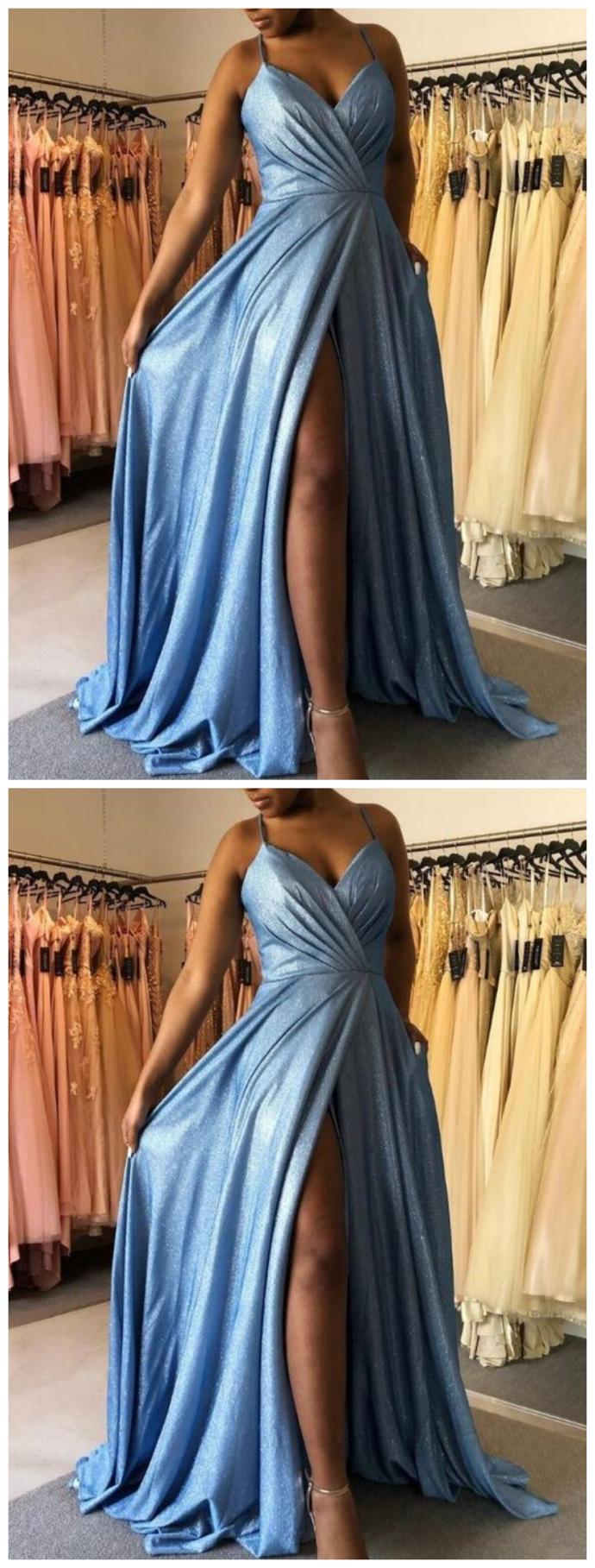 Sparkly Long Prom Dress , School Dance Dresses ,Fashion Winter Formal Dress