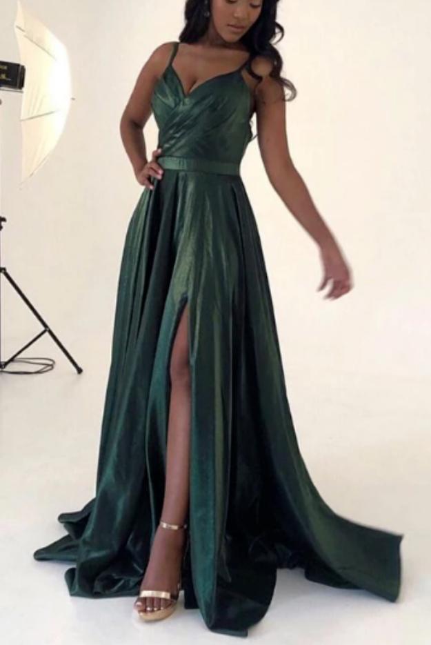 Simple A-Line Long Prom Dress ,School Dance Dresses ,Fashion Winter Formal Dress