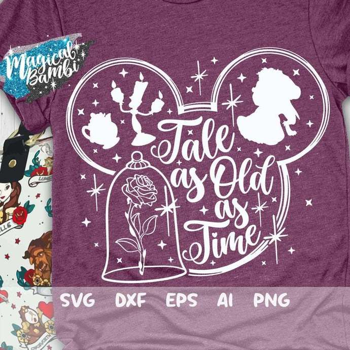 Tale as Old as Time Svg, Beauty and the Beast Svg, Disney Quote Svg, Belle Svg,