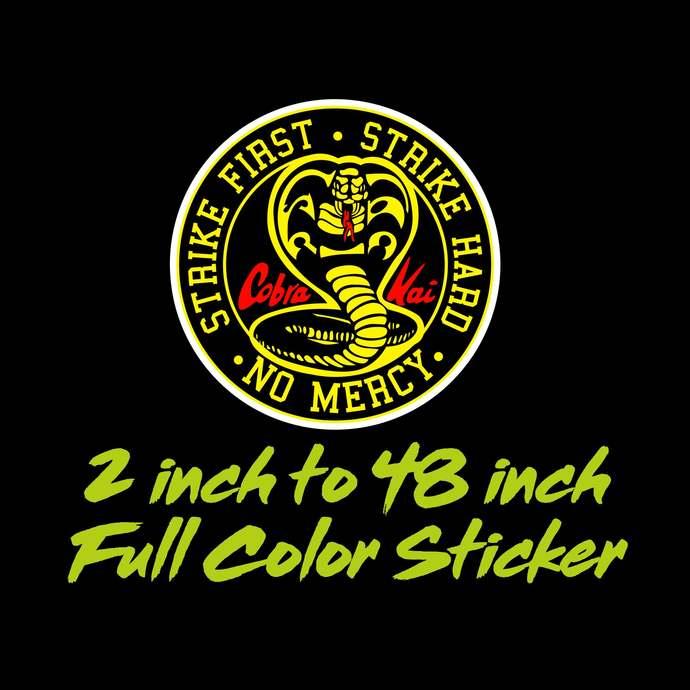 Cobra Kai Full Color Vinyl Sticker ; Hydroflask decal ; Laptop Decal ; Yeti