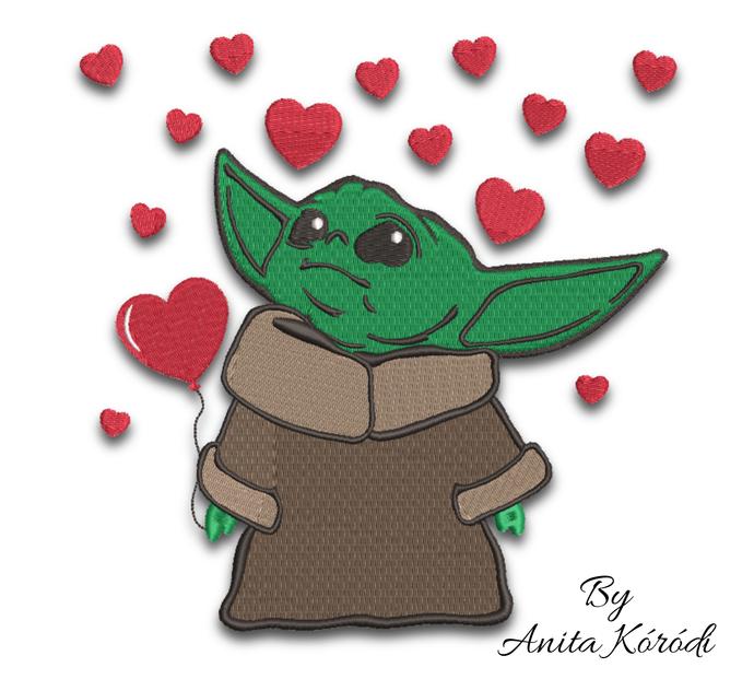 Baby Yoda Embroidery Machine Designs Star Wars Child Pattern