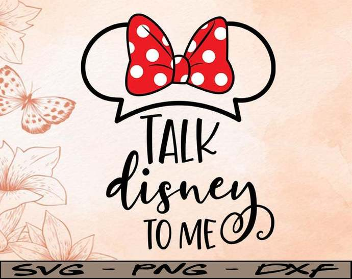 Talk Disney to Me svg, Disney Mickey and Minnie svg,Quotes files, svg file,