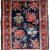 Handmade antique Persian Hamadan rug 2.1' x 3.2' (64cm x 97cm) 1920s - 1B818