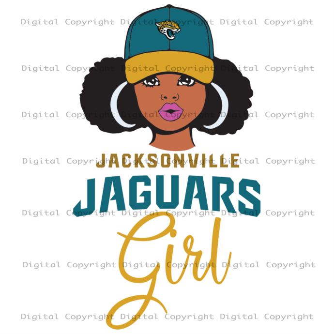 Jaguars Girl Svg, Black Girl Svg, Black Woman, Jacksonville Jaguars Girl,