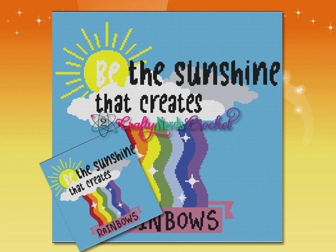 Be the Sunshine Pattern with SC Single Crochet Written