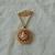vintage Coro signed cameo locket festoon brooch shell pink white gold filigree