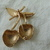 vintage Sarah Coventry signed brushed gold cherries brooch