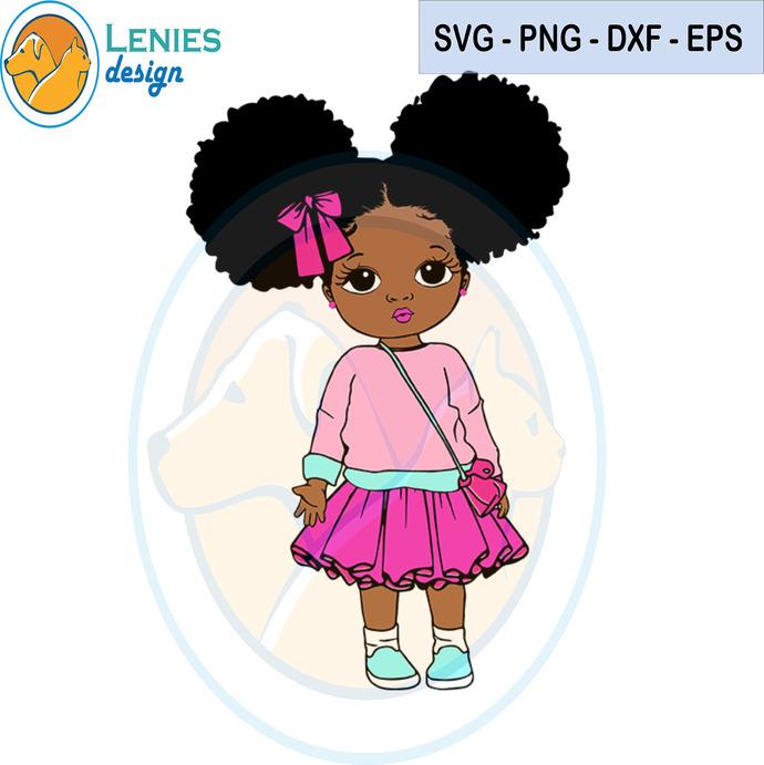 Peekaboo Pinky Girl Svg Black Girl Svg By Lenies Design On Zibbet