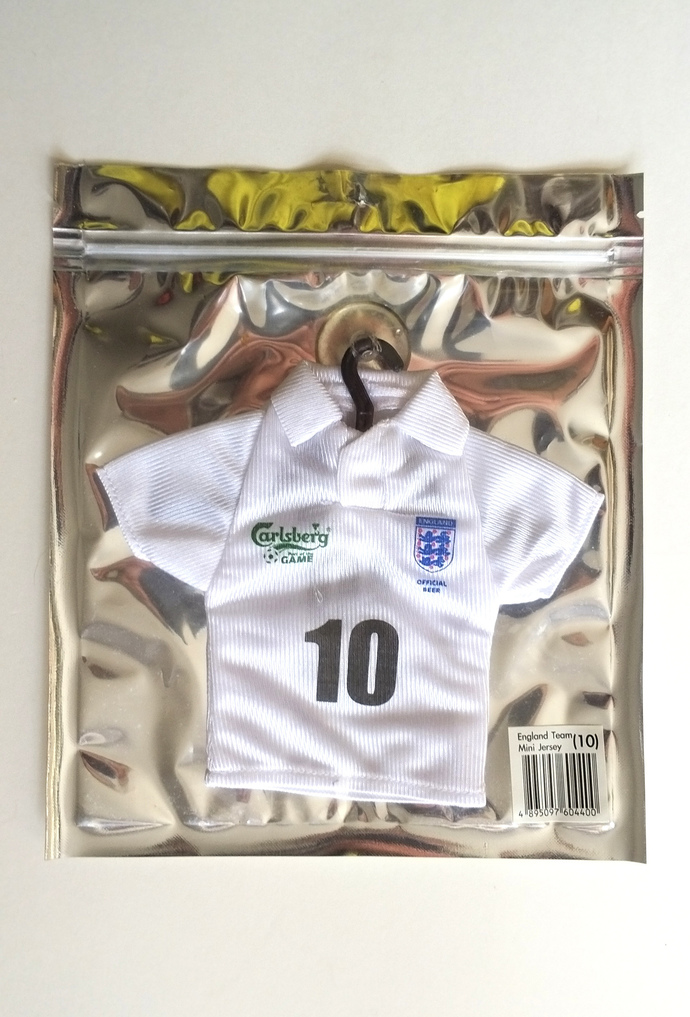Carlsberg Beer x England National Team Mini Jersey (10) - 2010 Home Jersey - New