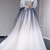 Blue Gradient Tulle Long Formal Dress, Off Shoulder New Style Prom Dress 2021