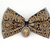 Opulence Elegant Black and Gold Bow Tie for Cats with Cameo Charm, Pet Fashion,