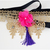 Feline Regal Gold Lace Beaded Ribbon Neckpiece with Tassel, Sebbys Corner,