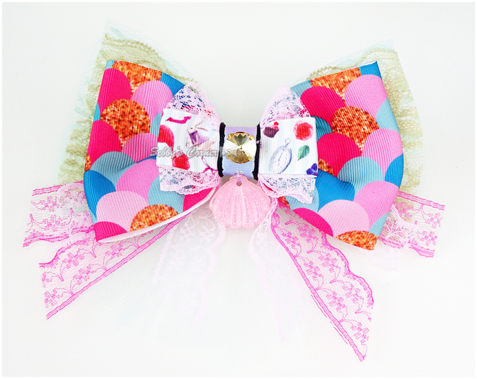 Mermaid Wonderland Bow Tie for Cats, Fish Scale, Catwalk Collection, Pet