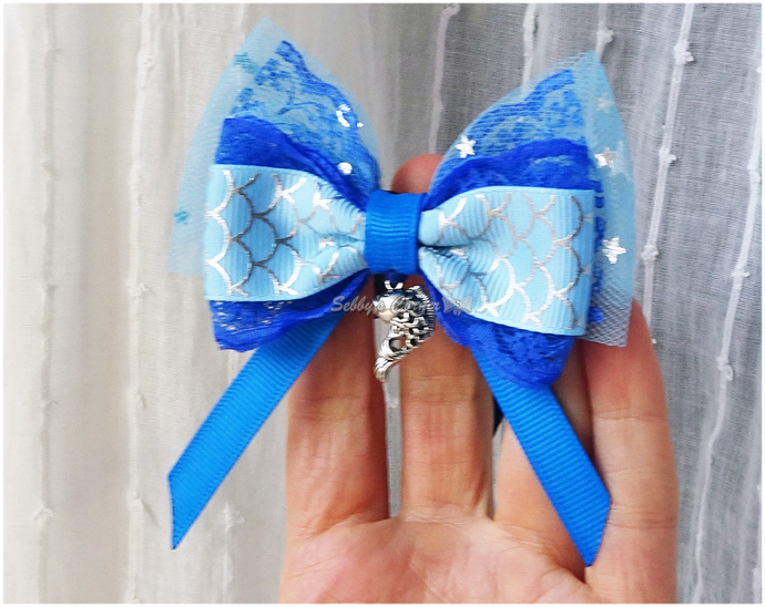 Sweet Water Blues Removable Bow Tie for Cats with Fish Charm, Summer 2021,