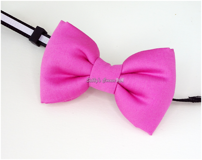 Pink Bow for Cats, Solid Color, Pet Accessories, Slide On, Spring, Eeaster Egg