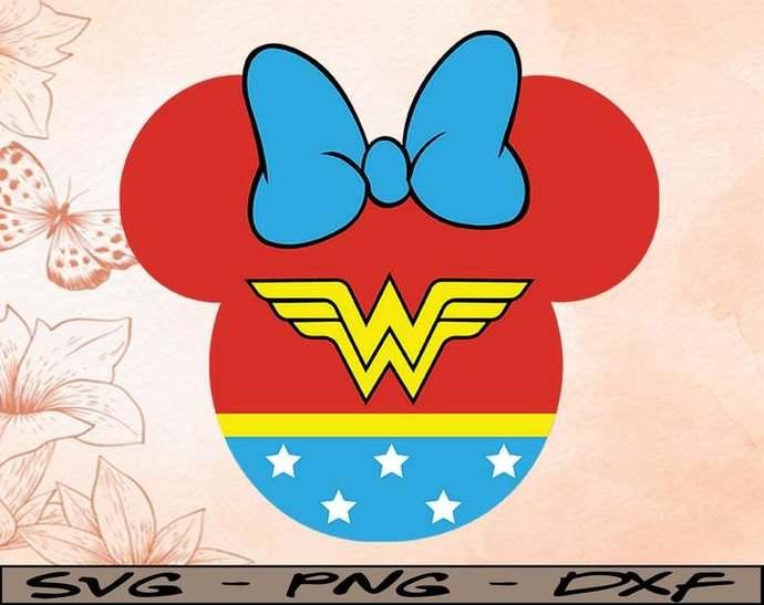 Mickey Wonderwoman Disney svg,Disney Mickey and Minnie svg,Disney