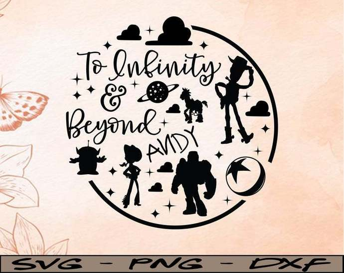 Round set Toy Story to Infinity and Beyond svg, Disney Mickey and Minnie