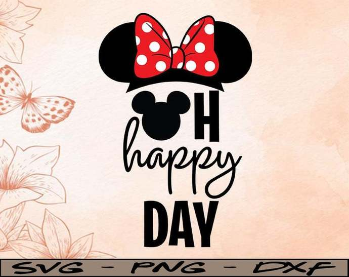 Oh happy day Disney svg, Disney Mickey and Minnie svg,Quotes files, svg file,