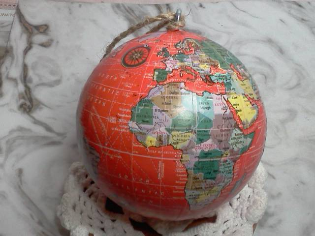Red Globe of World Map*