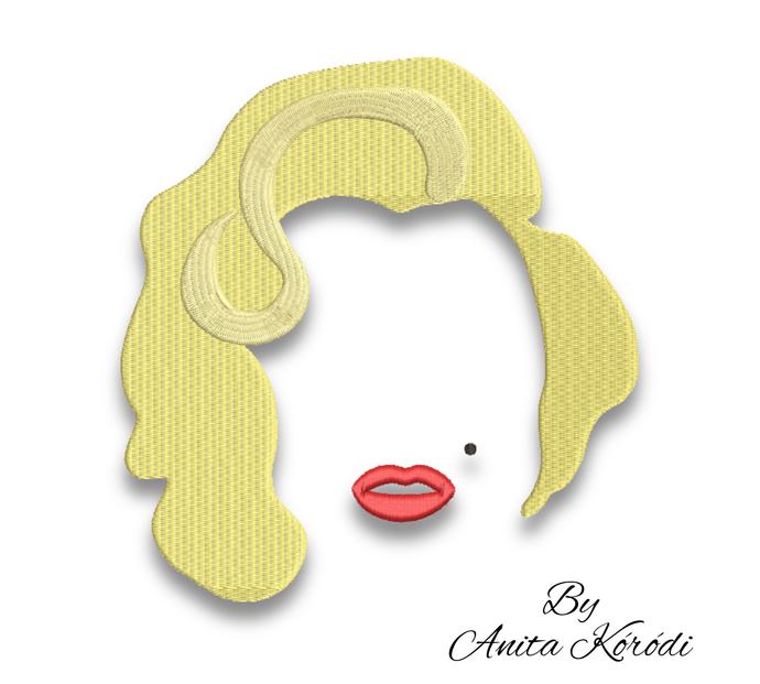Marilyn Monroe embroidery machine design woman instant digital download pattern