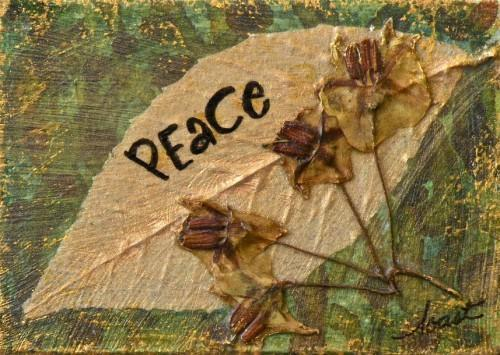 "Original Mixed Media ACEO, ""Peace Sustains"""