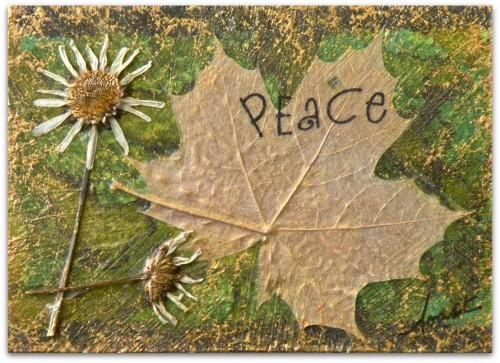 """Daisy Maple Peace"" - Original Mixed Media ACEO"