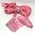 (O4) PRETTY PINK 5 Yds SEAMLESS Vintage Silk Sari Ribbon 5 Yard lengths, No