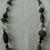 vintage Tres Jolie signed black ab crystals silver drop necklace