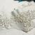 Destash White Beaded Wedding dress Applique - Choose 2 ft or 1 yard lengths